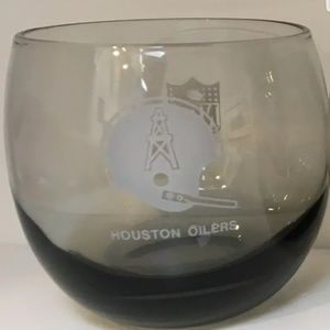 "6 Glasses Vintage Houston Oilers 3.25"" Cocktail"